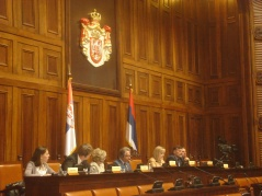 4 May 2012 National Assembly Speaker Prof. Dr Slavica Djukic Dejanovic at the opening of the roundtable of the International Association of Constitutional Law