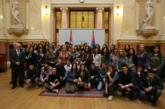 9 March 2012 National Assembly Speaker Prof. Dr Slavica Djukic Dejanovic meets with the youth of Novi Pazar