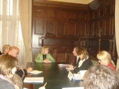 18 April 2012 National Assembly Speaker Prof. Dr Slavica Djukic Dejanovic with the delegation of the Pre-election Observation Mission of the Parliamentary Assembly of the Council of Europe