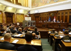 22 September 2016 Participants of the fifth meeting of the European Union-Serbia Stabilisation and Association Parliamentary Committee