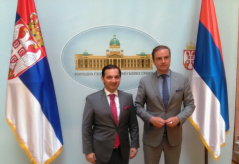 9 May 2018 Deputy Speaker Marinkovic and the Chairman of the Committee on European Affairs of the Parliament of the Netherlands Malik Azmani