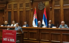"11 December 2019 National Assembly Deputy Speaker Prof. Dr Vladimir Marinkovic speaks at the opening of conference ""The World in 2020"""