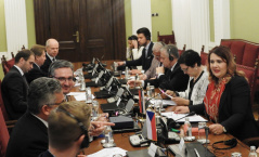 14 November 2019 The members of the European Integration Committee in meeting with the delegation of the Committee on European Affairs of the Chamber of Deputies of the Parliament of the Czech Republic