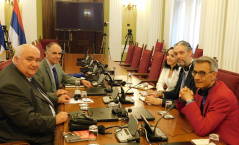 25 June 2019 The Chairman of the Committee on Constitutional and Legislative Issues in meeting with the representatives of the OSCE Mission to Serbia
