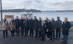 14 January 2020 The members of the delegation of the OSCE PA Ad Hoc Committee on Countering Terrorism in visit to the island of Utoya
