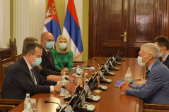 26 October 2020 National Assembly Speaker Ivica Dacic with Russian Ambassador to Serbia Alexander Botsan-Kharchenko