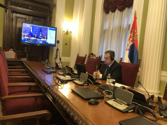 30 November 2020 The Speaker of the National Assembly of the Republic of Serbia Ivica Dacic at the online session of the Council and the 13th Plenary Session of the Collective Security Treaty Organisation