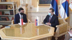 18 January 2021 The Speaker of the National Assembly of the Republic of Serbia receives the Ambassador of the Republic of Poland to the Republic of Serbia H.E. Rafal Perl
