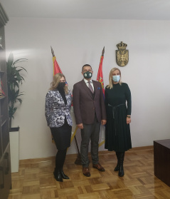 26 January 2021  The Chairman of the Committee on Human and Minority Rights and Gender Equality Dr Muamer Bacevac with Minister of Justice Maja Popovic