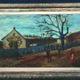 Stevan Bodnarov <br>The countryside, 1937 <br>Oil on canvas, 93 × 61 cm <br>Signed below on the left: Ст Боднаров 1937.г.