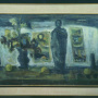 "Rizah Štetić <br>Still life with a figurine, 1962 <br>Oil on canvas, 100.5 × 69 cm <br>Signed above on the right: Rštetić 62 <br>On the inner frame:  RŠtetić: ""Mrtva priroda sa figurinom"" ulje 1962"